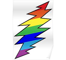 Rainbow Bolt Poster