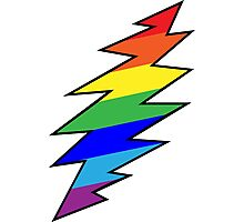 Rainbow Bolt Photographic Print