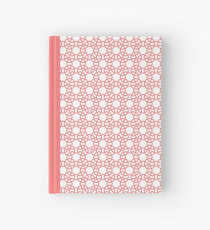 Peach and White Islamic Inspired Octagon Geometry Hardcover Journal