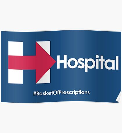 Helpful Hospital Direction for Hillary Poster