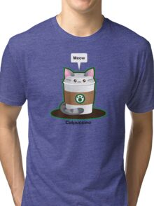 Cute Cat Coffee Tri-blend T-Shirt