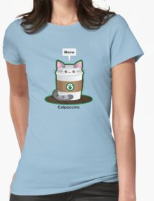 Cute Cat Coffee Womens Fitted T-Shirt