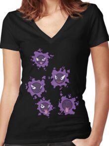 Pokemon Gastly Women's Fitted V-Neck T-Shirt