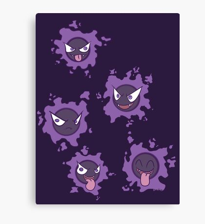 Pokemon Gastly Canvas Print