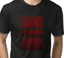gains for harambe Tri-blend T-Shirt