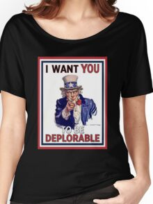 Basket of Deplorables - Uncle Sam I Want You Women's Relaxed Fit T-Shirt