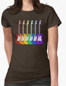 Rainbow Guitars Womens Fitted T-Shirt