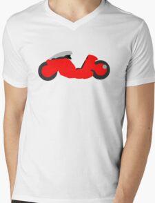 Kanedian Motorcycle Mens V-Neck T-Shirt