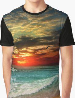 Beach Sunset Graphic T-Shirt