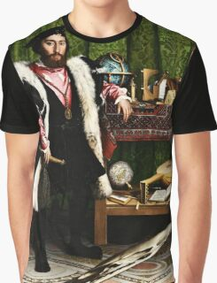 Hans Holbein the Younger - The Ambassadors 1533 png Graphic T-Shirt
