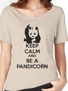 Keep Calm And Be A PandiCorn Women's Relaxed Fit T-Shirt