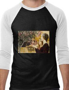 Gustav Klimt - Two Girls With Oleander  Men's Baseball ¾ T-Shirt