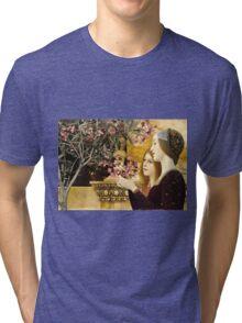 Gustav Klimt - Two Girls With Oleander  Tri-blend T-Shirt
