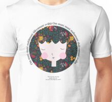Buddhist Meditation Mantra - Zen Girl Series Unisex T-Shirt
