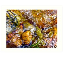 Gore Creek Abstract 1 Art Print