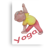 Flexible Yoga Bear in triangle pose Canvas Print