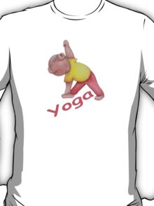 Flexible Yoga Bear in triangle pose T-Shirt