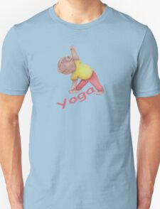 Flexible Yoga Bear in triangle pose Unisex T-Shirt