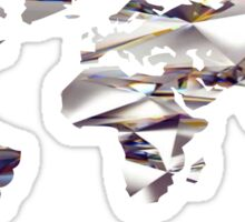 World Map Diamond Sticker