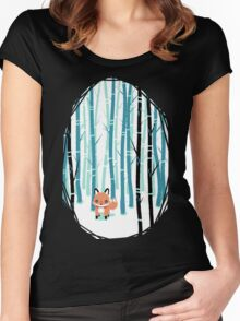 Fox in the Forest Women's Fitted Scoop T-Shirt