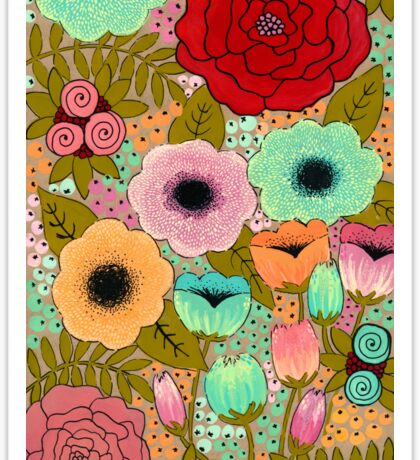 Gouache Garden Sticker