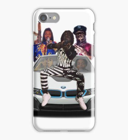 Capo Chief keef Tadoe Tray Savage Lil Fash Pointing Guns iPhone Case/Skin