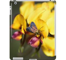 Insect on pea flower iPad Case/Skin