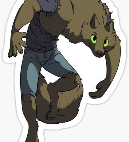 A Werewolf Appears! Sticker