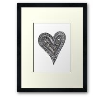 My heart is a complex thing Framed Print