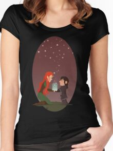 Catching Stars Women's Fitted Scoop T-Shirt