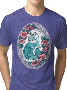 Mermaid kitty  Tri-blend T-Shirt