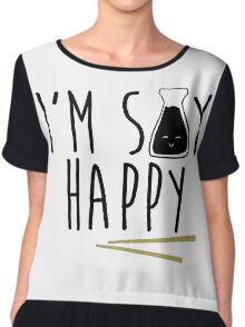 I'm Soy Happy - Soy Sauce Chiffon Top