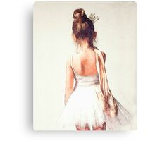 Off to Ballet Class Canvas Print