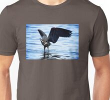 Great Blue Heron and Fish Unisex T-Shirt
