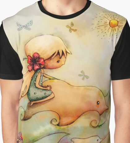 dolphin ride Graphic T-Shirt