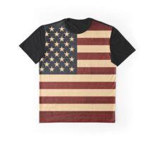 USA FLAG WOOD Graphic T-Shirt