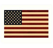 USA FLAG WOOD Art Print