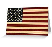 USA FLAG WOOD Greeting Card