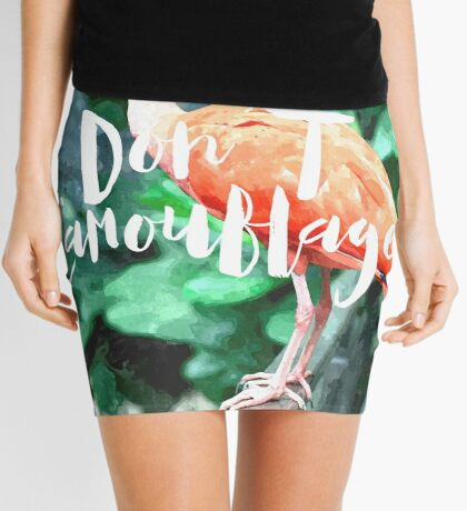 Don't Camouflage Mini Skirt