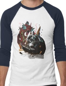 Graphic Aggron vs Gyarados Men's Baseball ¾ T-Shirt