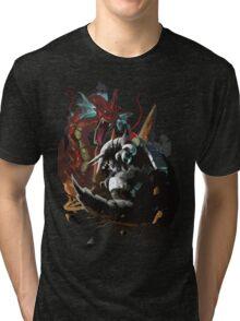 Graphic Aggron vs Gyarados Tri-blend T-Shirt
