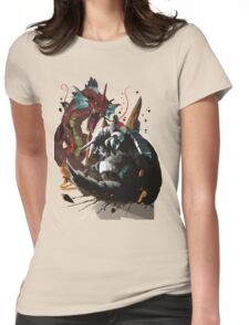 Graphic Aggron vs Gyarados Womens Fitted T-Shirt