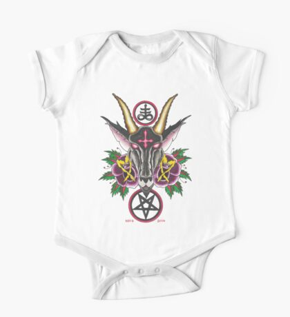Baphomet Roses One Piece - Short Sleeve