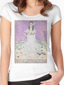 Gustav Klimt - Portrait Of Mada Primavesi 1912 Women's Fitted Scoop T-Shirt