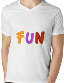 FUN Mens V-Neck T-Shirt