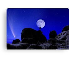 Moonrise Over White Tank Campground. Canvas Print
