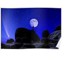 Moonrise Over White Tank Campground. Poster