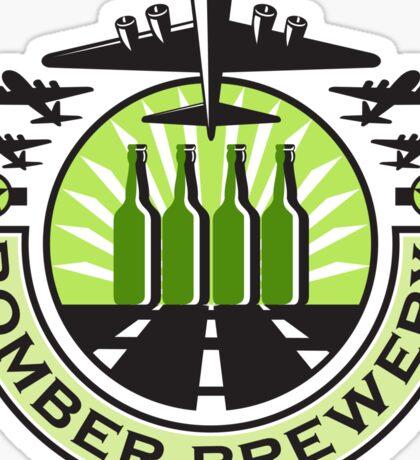 B-17 Heavy Bomber Beer Bottle Brewery Retro Sticker