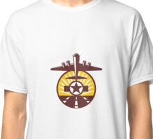 B-17 Heavy Bomber Star Runway Circle Retro Classic T-Shirt