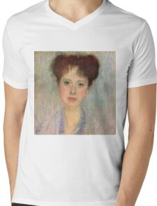 Gustav Klimt - Portrait Of Gerta Loew, 1902 Detal Mens V-Neck T-Shirt